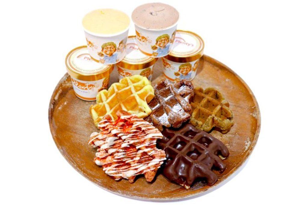 プレンティーズアイスクリーム&ワッフルセット